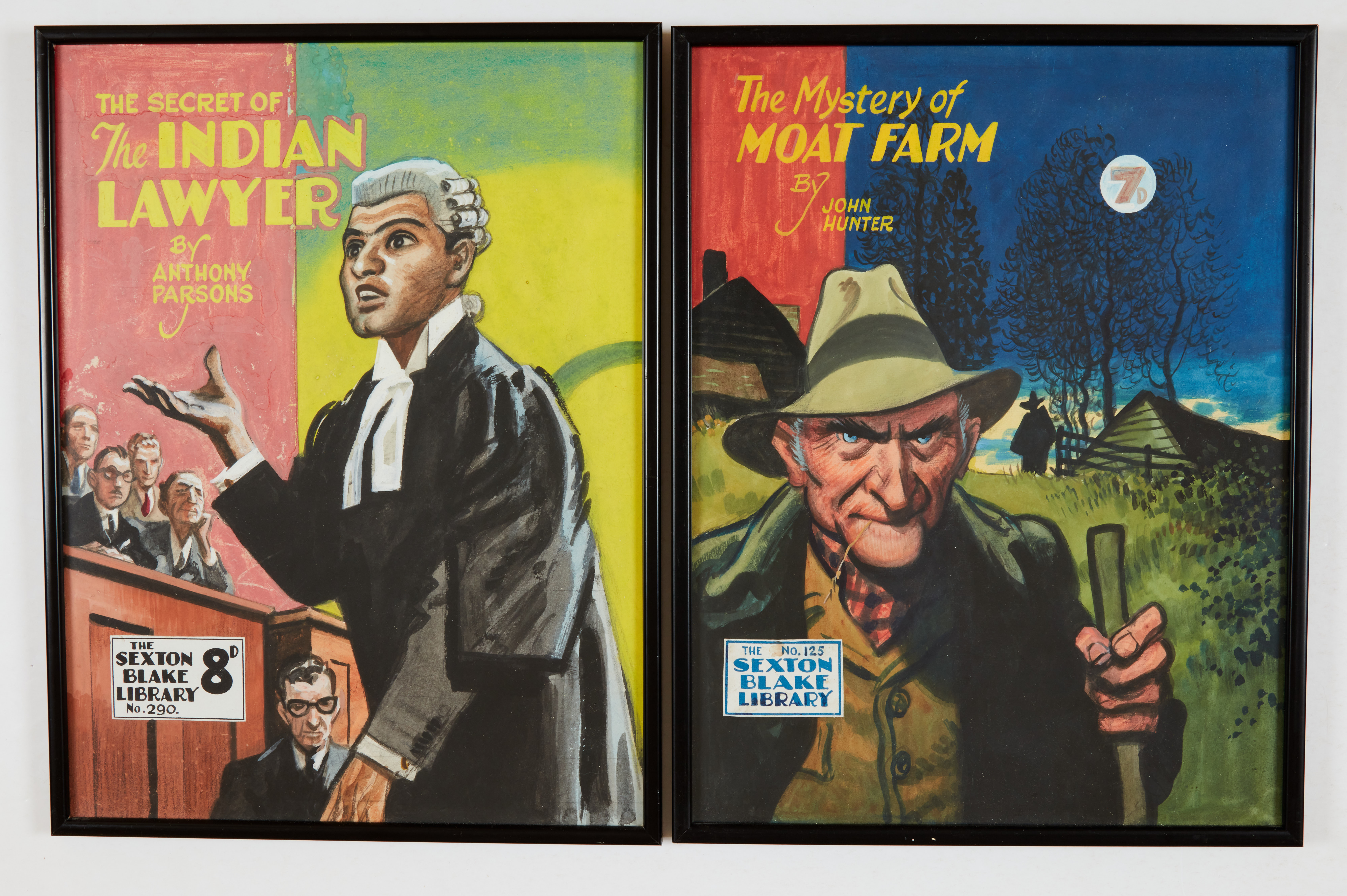 Sexton Blake/The Mystery of Moat Farm (1946) and the Secret of the Indian Lawyer (1953) two original