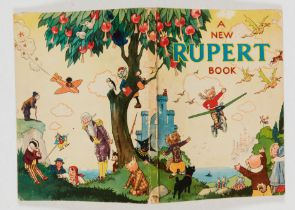 Rupert Book (1945). Single punch-hole to top cover and first page, clean white pages [vg-]. No