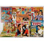 Girls' Comics No 1s mix + (1960s-80s). Princess 1, Buzz 1, Dreamer 1, Girl 1, Jinty 1, Magic 1 wfg