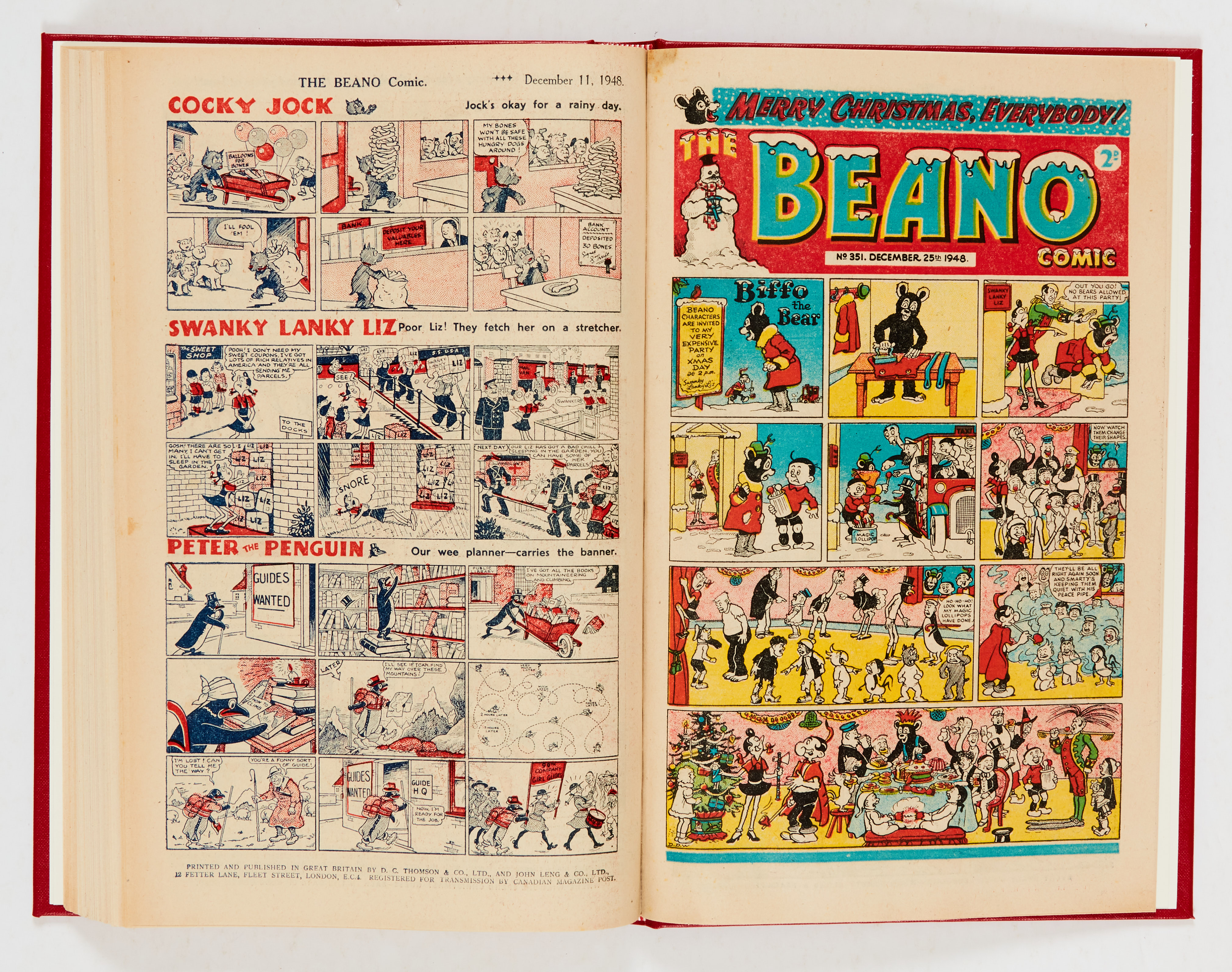 Beano (1948) 326-351. Complete year in bound volume (issued fortnightly). No 326 last Big Eggo - Image 4 of 4