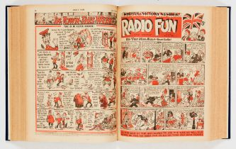 Radio Fun (1946) 378-429. Complete year in bound volume including Whitsun & Victory Number and