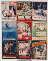 Sexton Blake Library (1st Series 1921-22) 178, 182, 187, 190, 199, 200, 208, 213, 220, 222, 223 228,
