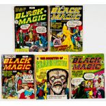 Black Magic Comics (1952 Arnold Book Co) 1, 2, 6, 7. With Monster of Frankenstein 5, Simon &