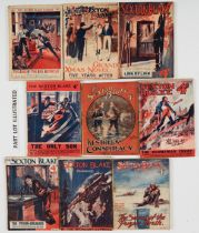 Sexton Blake Library (1st Series 1918-21) 47, 76, 78, 105, 109, 111, 119, 122, 124, 133, 141, 148,