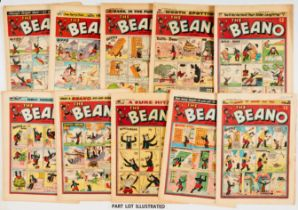 Beano (1957) 785, 787-804 including Fireworks issue. Starring Biffo, Lord Snooty, Minnie The Minx,