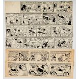 Roy Wilson original 4 strip artwork for Tip Top No 640 (1952). With Old Mother Riley original 2