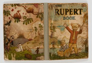 The Rupert Book (1941). Dull cover, professionally replaced spine [gd]. No Reserve