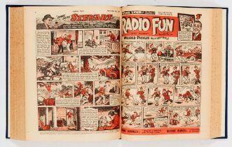 Radio Fun (1947) 430-481. Complete year in bound volume. Starring Vera Lynn, The Falcon - Secret
