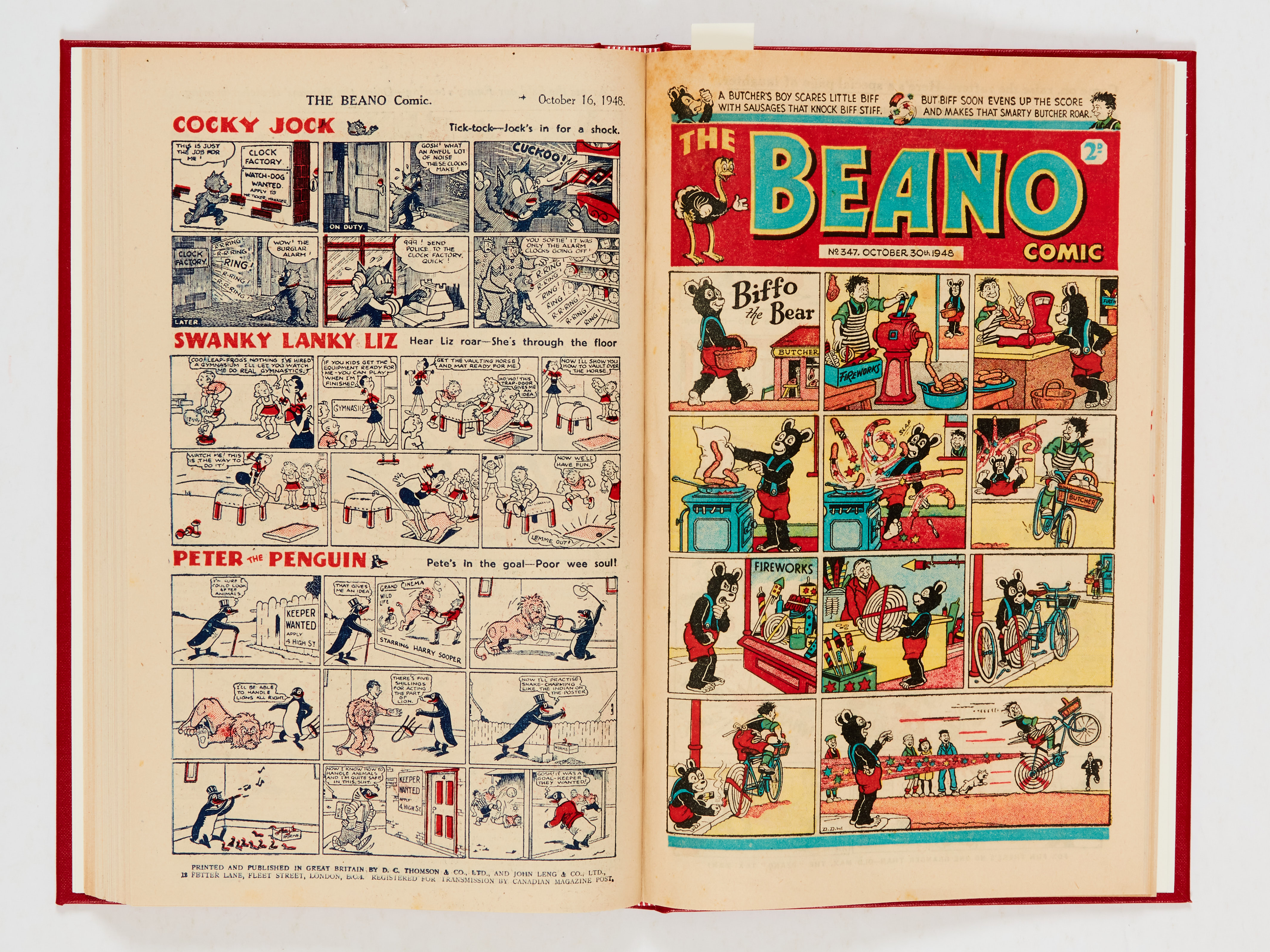 Beano (1948) 326-351. Complete year in bound volume (issued fortnightly). No 326 last Big Eggo - Image 3 of 4
