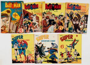 Batman (K.G. Murray, Australia/UK 1950s) 15, 29, 30, 39. With Super Adventure 24, 30, 34. Batman 15,