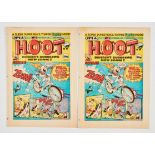 Hoot Comic No 1 (1985). Two issues of No 1: [vg+] and [fn+] (2). No Reserve
