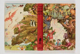 The New Rupert Book (1938). Third Rupert book. No dedication, clean cream pages [fn-]