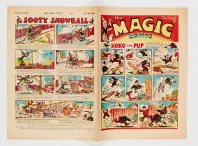 Magic Comic No 48 (1940). Propaganda war issue with Herr Paul Pry the Nazi Spy strip. Bright covers,