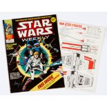 Star Wars Weekly No 1 (1978) wfg Star Wars X-Fighter. Gift as new, comic some tanning to lower