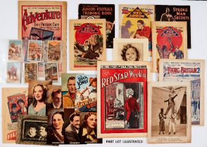 1930s-40s Comics with Free Gifts. Adventure No 61 (1922) with 10 adventure Picture Cards, Boys'