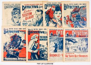Detective Weekly (1939-40) 307-379. Complete year of 1939 continuing to final issue No 379 due to