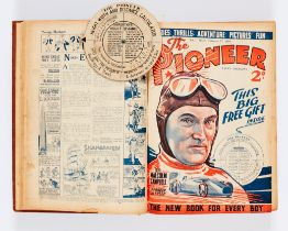 Pioneer (1934) 1-25. In bound volume with free gifts with Nos 2, 3 and 4. Great pioneer