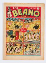 Beano No 40 (Apr 29 1939). Bright cover with some light margin foxing. Cream/light tan pages [fn-]