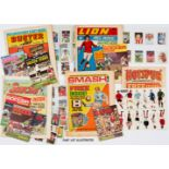 Football Free Gifts in comics (1970-73). Buster 7-28 Feb (1970) 16-30 Oct, 6 Nov (1971). Eight