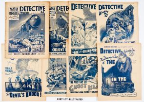 Detective Weekly (1935) 124-129: Agatha Christie's Murder on The Orient Express complete in 6