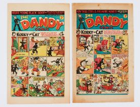 Dandy 360 (1948) New Year [vg+], 382 Fireworks [vg] (2)