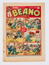 Beano No 78 (Jan 20 1940). Propaganda war issue. Wild Boy of the Woods condemned as a British spy.