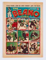 Beano No 135 (22 Feb 1941) 'Look Inside And See Lord Snooty Jape The Nazis' top cover sub-title.