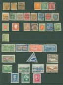 COLLECTION BALANCE on album leaves or hagners, Foreign or Commonwealth ranges incl. South Africa,