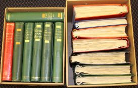 ALL WORLD A-Z collection housed in fourteen standard sized spring back albums, fills two cartons. (