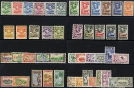 BRITISH COMMONWEALTH Defin M complete sets comprising Basutoland 1938, SG.18/28, British