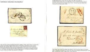 1841 wrapper from Seaton Sluice to North Shields cancelled by the 'Hartley Pans/Penny Post' in red &