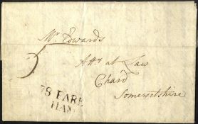 HAMPSHIRE 1785-1945 collection written up on leaves mainly written from Titchfield incl. 1785 78