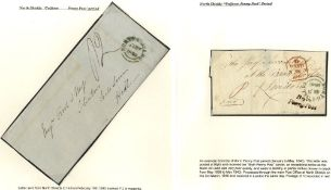 1840 March entire from Blyth to London bearing a fine 'Blyth/Penny Post' in black, good strike,