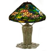Tiffany Style Leaded Pond Lily Lamp