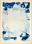 """Sam Francis (American, 1923-1994) """"Poster Without Letters"""""""
