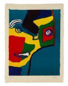 """Karel Appel (Dutch, 1921 - 2006) """"Head in Profile"""""""