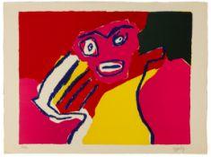"""Karel Appel (Dutch, 1921 - 2006) """"Homme"""""""