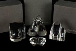 (4) Steuben Pieces, True Love, Love, Hearts