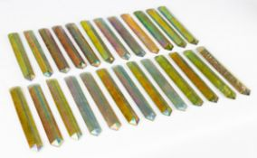 Group of Tiffany Studios Iridescent Hanging Glass Prisms
