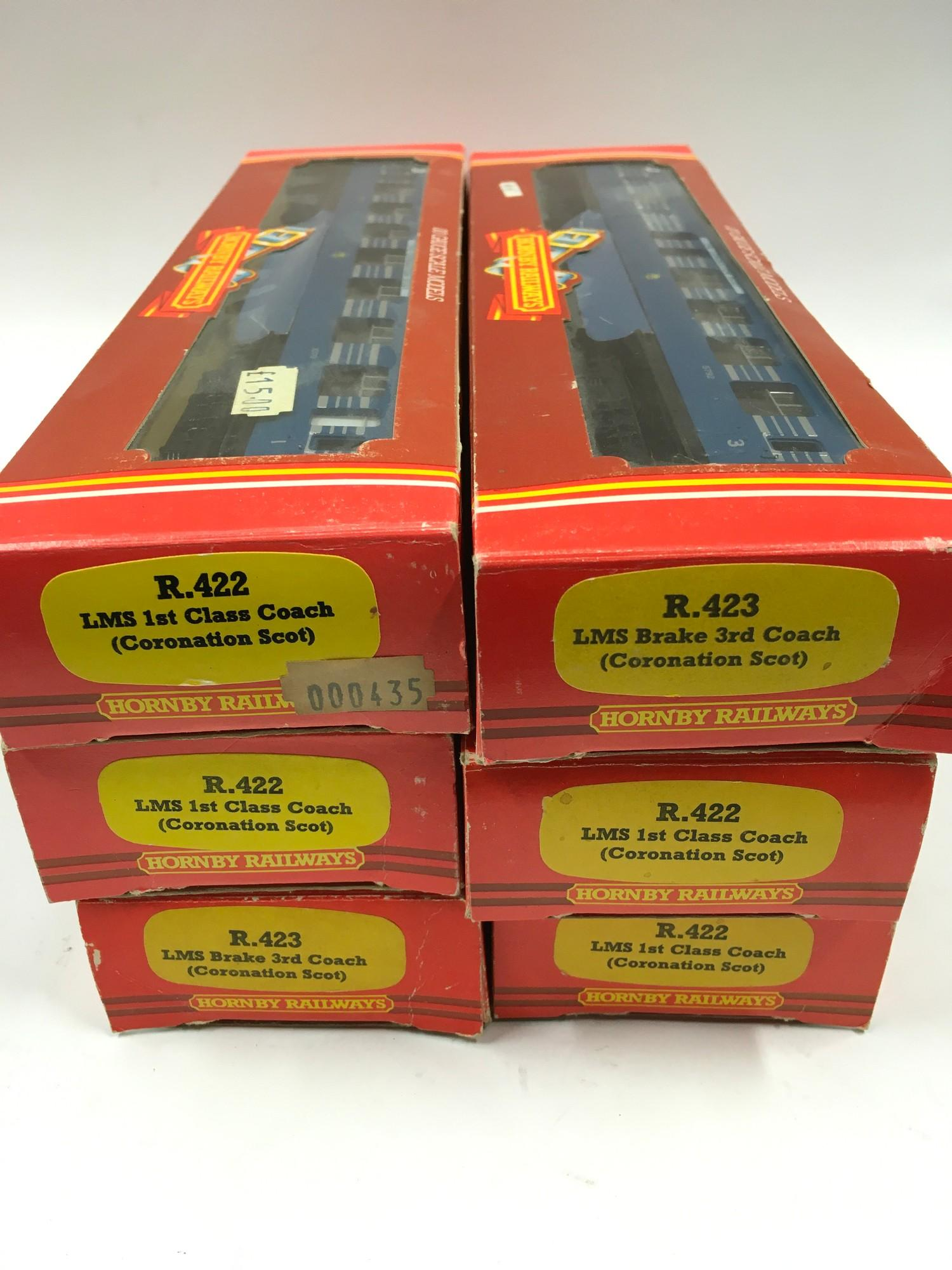 6 x boxed Hornby coaches (Coronation Scot) - see photo for details. - Image 2 of 3