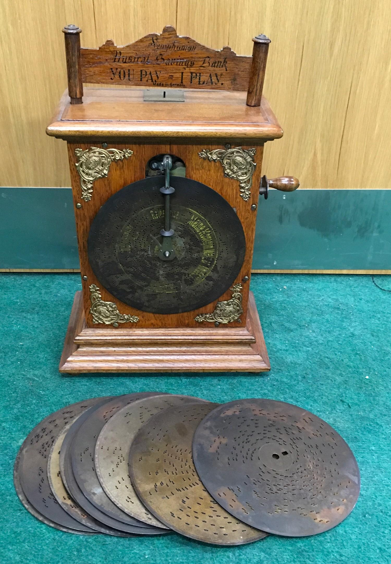Extremely Rare Small Coin Operated Symphonium No.105 The Kaisers Music Box. Made in approx 1900.