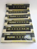 6 x Wrenn OO Gauge Pullman coaches (see photo for details).