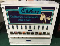 Large Cadbury Chocolate Vending Machine with key.