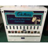 Large Cadbury Chocolate Vending Machine with key.