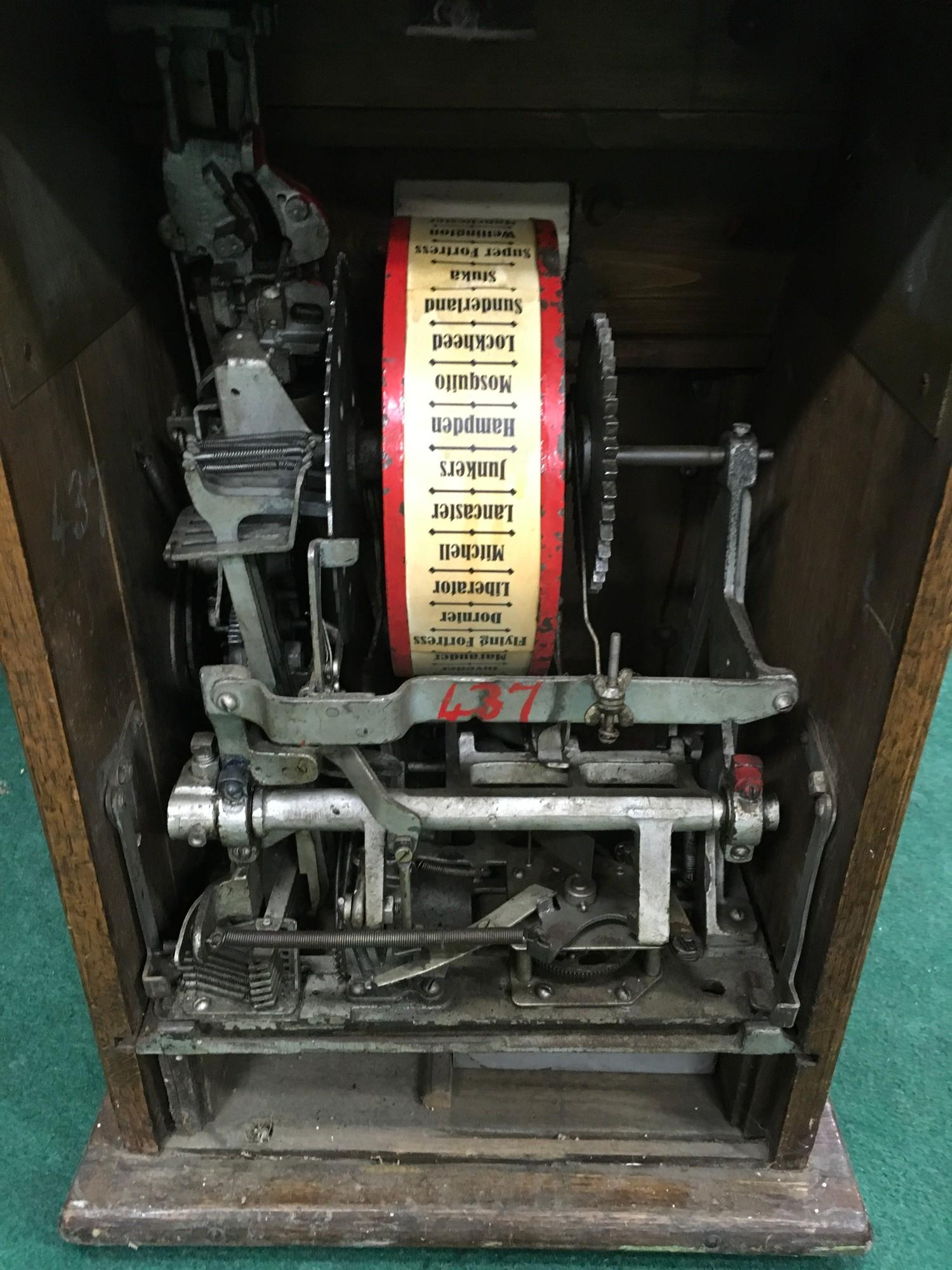 Bomber Command Slot Machine. Works on 1d coin. Mills Mechanism. - Image 2 of 8