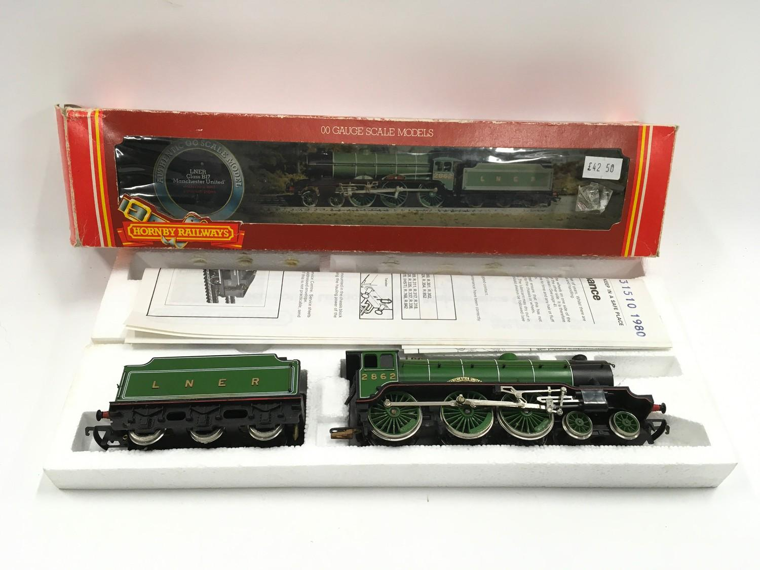 Hornby R053 LNER Class B17 locomotive ?Manchester United? - boxed. - Image 2 of 3