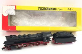 Fleischmann 4138 steam locomotive DB 39 103 (missing a front buffer). Appears Good to Good Plus