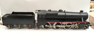 3 1/2 gauge live steam 'Black Five' Locomotive built from scratch. Has been certified. Certificate