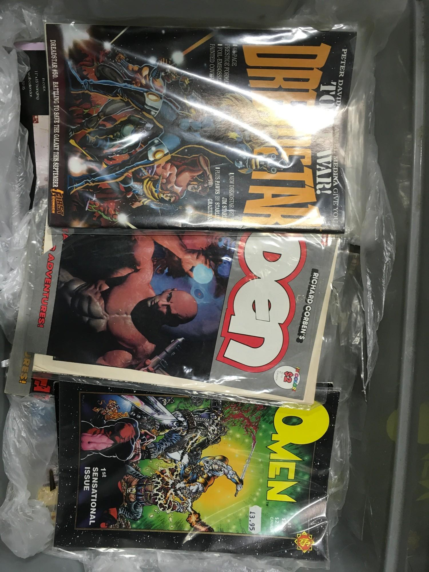 Large collection of various comics to include Marvel, DC, First Comics, Dark Horse Comics and