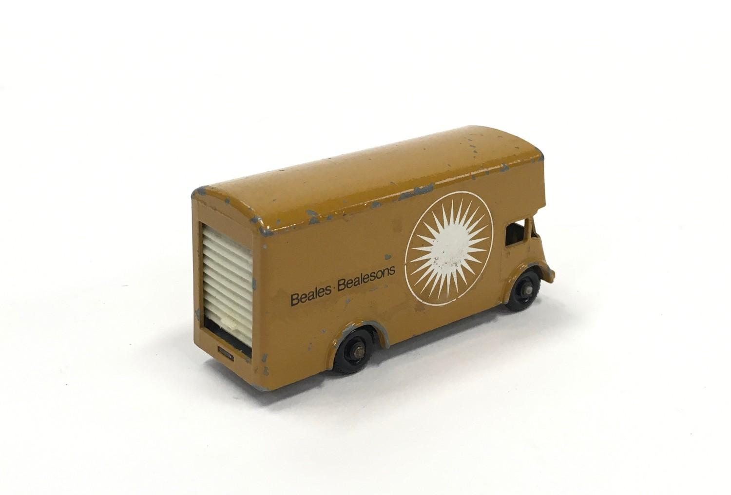 "Matchbox Regular Wheels No.46b Guy Removal Van ""Beales Bealesons"" Promotional Issue - tan type B - Image 2 of 2"